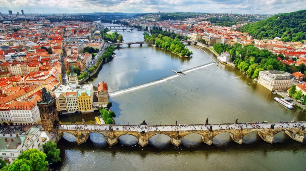 Area Lesser Town of Prague (Mala Strana).